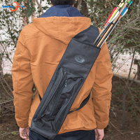 Archery Hunting Arrow Quiver Black Canvas Water Resistant for Outdoor Shooting Training Sport Accessories aljava para flecha