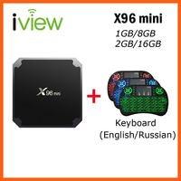 X96 mini Android TV BOX + keyboard backlit with Li on battery Amlogic S905W Quad Core 1GB+8GB 2GB+16GB IPTV Smart TV Box
