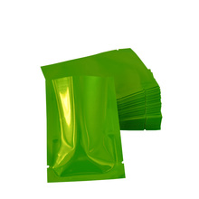 200pcs/lot 6*9cm Green Small Aluminum Foil Packing Bag Open Top Glossy Mylar Food Vacuum Bags Coffee Tea Storage Pouch