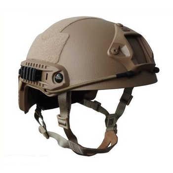 Tactical Hunting NIJ IIIA FAST Ballistic Helmet With Report Ops Core FAST Ballistic Helmet Army Military Bulletproof Helmet Tan
