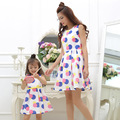 Mother Daughter Dresses 2017 Colorful Polka Dots Dress for Kids and Women Summer Chiffon Dresses Mom Daughter Matching Outfits