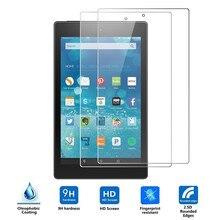 Ультра-тонкий протектор экрана из закаленного стекла HD устойчивая к царапинам плоская панель Flim для Amazon new Fire 7 tablet 2PC#10