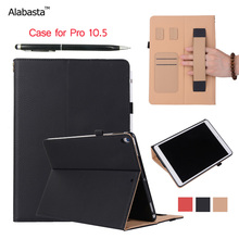 Alabasta For iPad Pro 10.5 Smart Case Learher + Soft Silicone protection Flip Stand Cover Card pouch Pocket With stylus pen