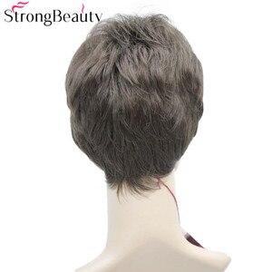 Image 3 - StrongBeauty Corpo Corto Dellonda Del Corpo Parrucche Sintetiche Delle Donne/Uomini Parrucca Al Calore Parrucca Resistente