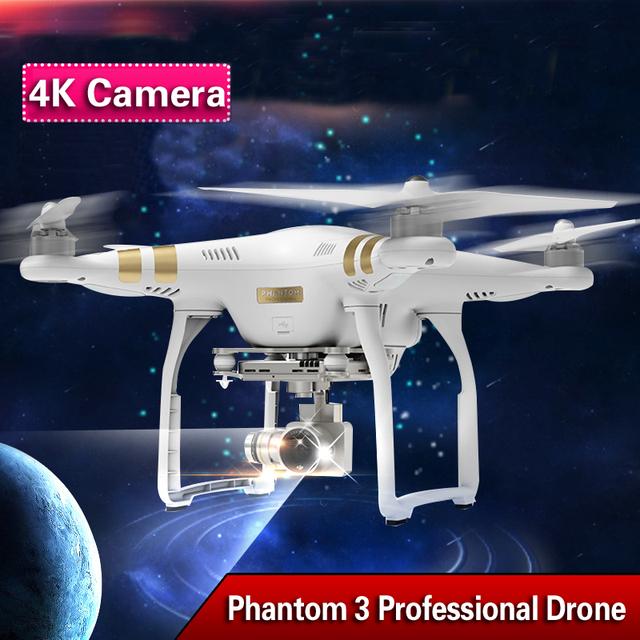DJI Phantom 3 Quadcopter drone 4 K Cámara profissional Go pro con cámara hd Drone RC Quad Copter RTF GPS FPV Con 4 K cámara
