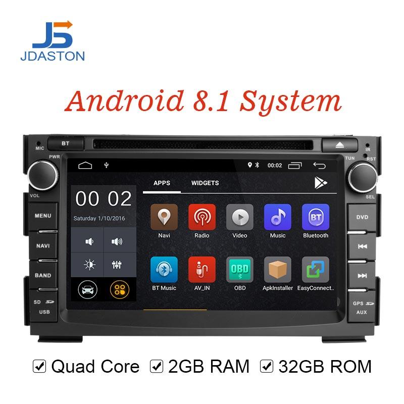 JDASTON Android 8,1 автомобильный мультимедийный плеер для Kia Ceed 2009 2010 2012 2011 2 Дин радио gps навигации DVD WIIF стерео аудио