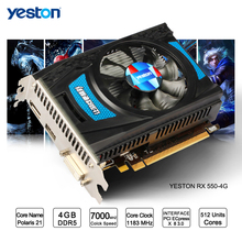 Yeston Radeon RX 550 GPU 4GB GDDR5 128bit Gaming Desktop computer PC Video Graphics Cards support DVI-D/HDMI2.0B PCI-E 3.0