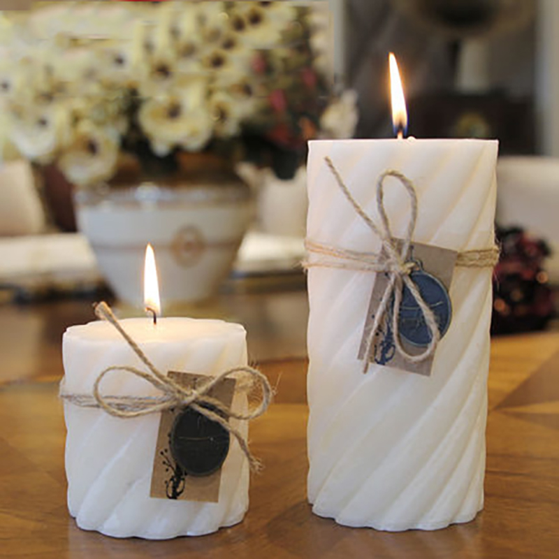 Wedding Decoration White Candle Essential Oil Bougies Et