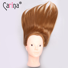 Big Sale Professional Styling Head 50cm Golden Hair Wig Heads For Hairdressers Training Nice Mannequin