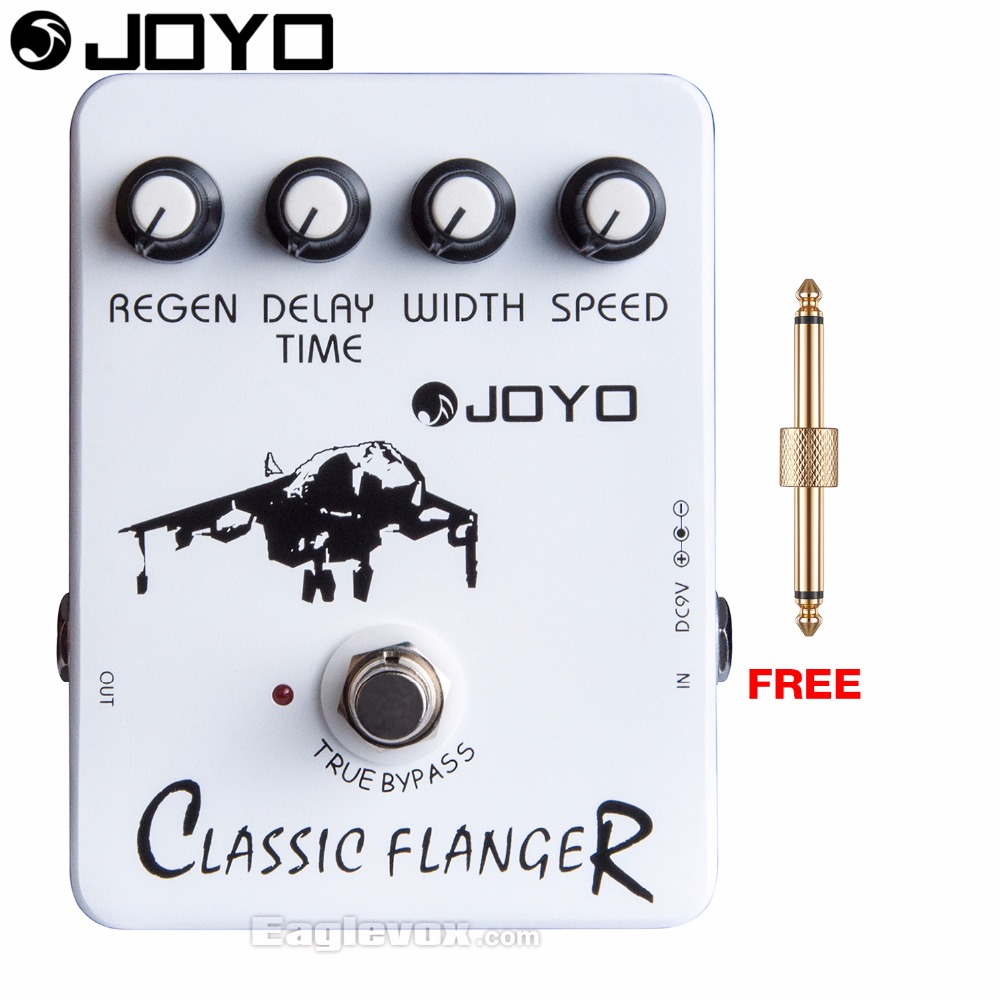 JOYO Classic Flanger Electric Guitar Effect Pedal True Bypass JF-07 with Free Connector joyo jf 317 space verb digital reverb mini electric guitar effect pedal with knob guard true bypass