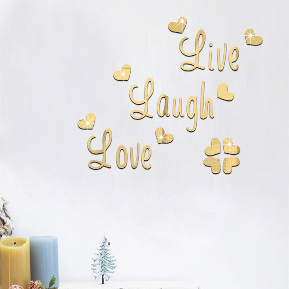Live Laugh Love Quote Removable Wall Art Stickers Mirror ...