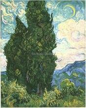 Cypresses by Vincent Van Gogh Handpainted