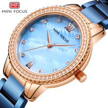 Minifocus Mewah Fashion Wanita Jam Tangan Wanita Watch Besi Tahan Karat Dress Wanita Watch Kuarsa Jam Tangan Hadiah Valentine Dropshipp(China)