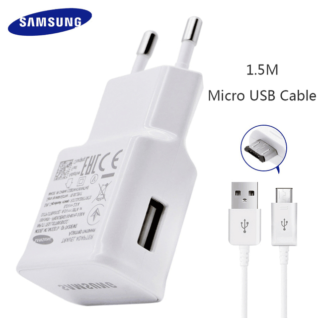 Samsung S6 S7 Edge Note 4 5 Fast Charger Travel Adapter EU Galaxy S 6 S 7 9V1.67A 1.5m USB Cable Adaptive Charging Original