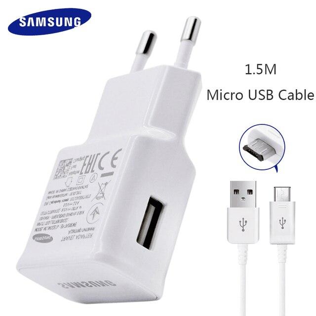 ¡Samsung S6 S7 borde Nota 4 5 rápido cargador adaptador de viaje de la UE Galaxy S 6 S 7 9V1! 67A Cable USB de 1,5 m Cable de carga Original