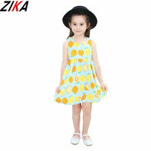 ZIKA Summer Girls Lemon Party Princess Dress 1-8Y Kid Pageant Formal Dresses Printing Sleeveless  sc 1 st  AliExpress.com & Buy lemon costume baby and get free shipping on AliExpress.com