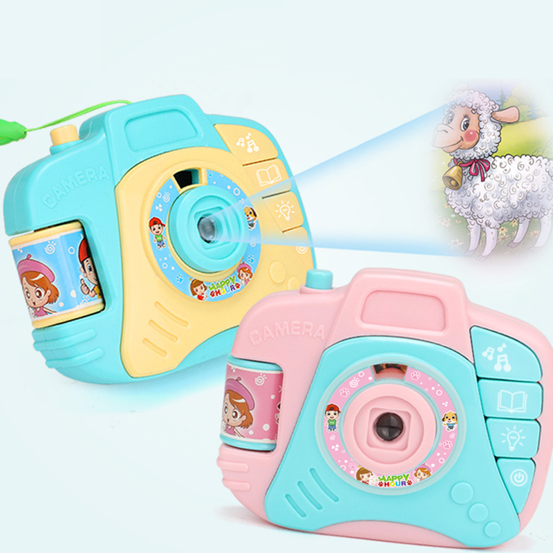 Children Cartoon Simulation Camera Projection Toy Sound And Ligh Plastic Educational Photo Decoration Toys For Baby Kids Gifts