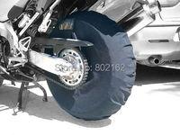 Tire Warmer Windstop Tyre Cover Polar Fleece Windbreak 17inch Black