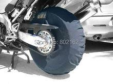 Tire Warmer calefacción sujetar Windstop Cubierta Para Neumatico Polar Cortavientos 12/17 pulgadas Negro