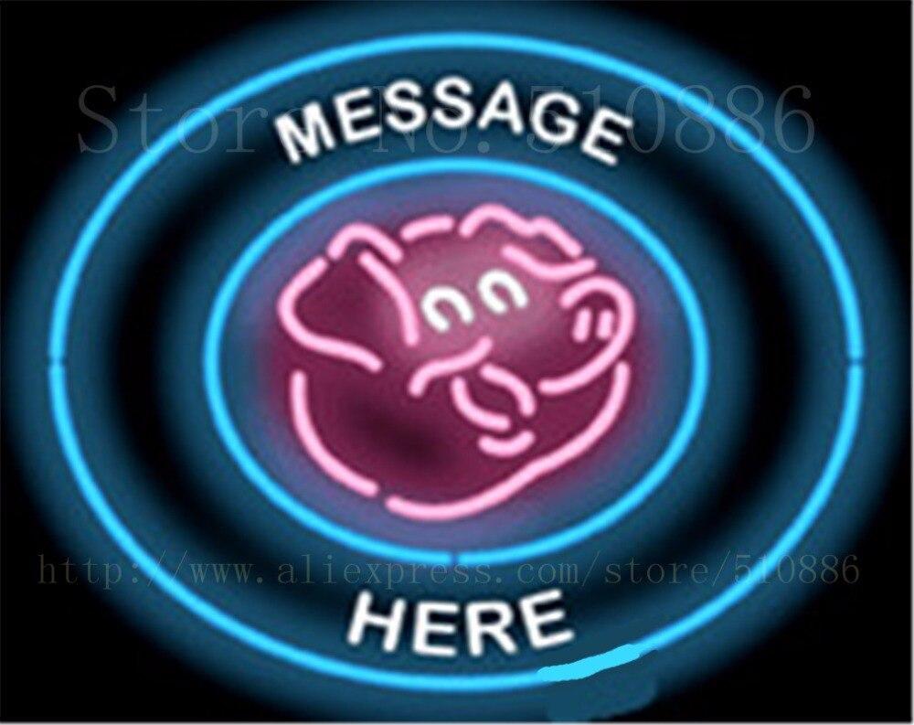Benutzerdefinierte Nachricht Schwein Rund Fleisch Glasrohr ...
