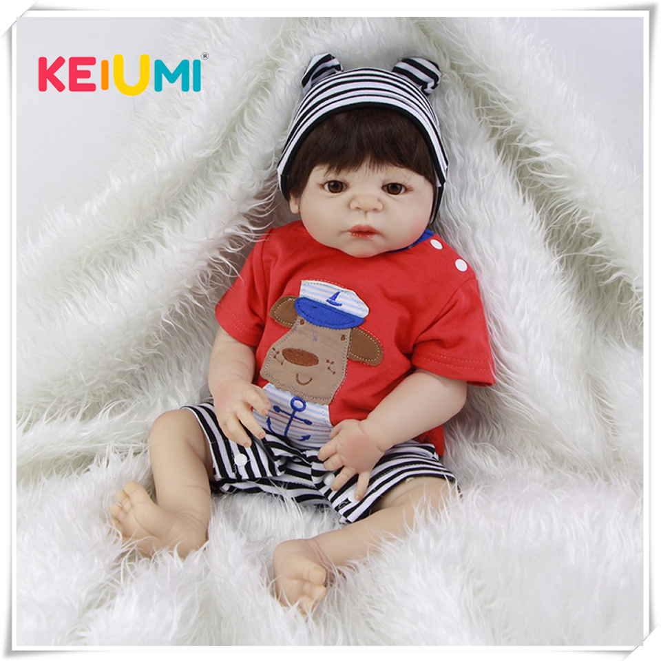Neue Design Lebendig Babys Puppen Reborn 23 zoll Boneca Volle Silikon Vinyl Baby Puppe Spielzeug Realistische Junge Kinder Geburtstag Weihnachten geschenk