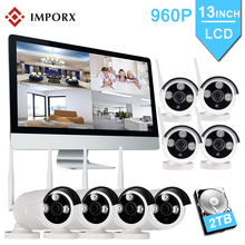 IMPORX 8CH 960P Wireless NVR Kit 8PCS IP Camera System NVR 13