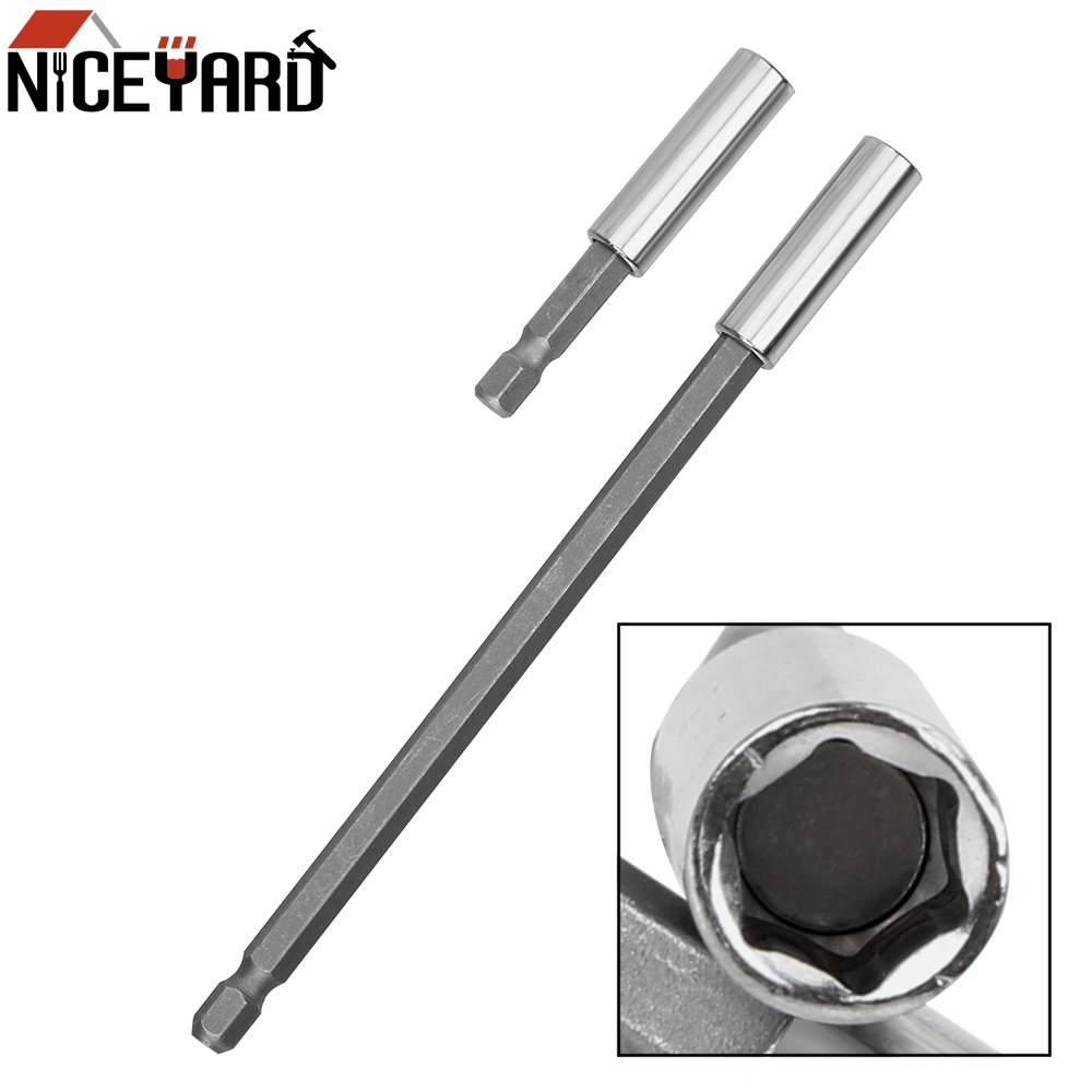 NICEYARD 60/150mm High-carbon Steel Hex Magnetic Bit Holder Extension Drill Driver 1/4