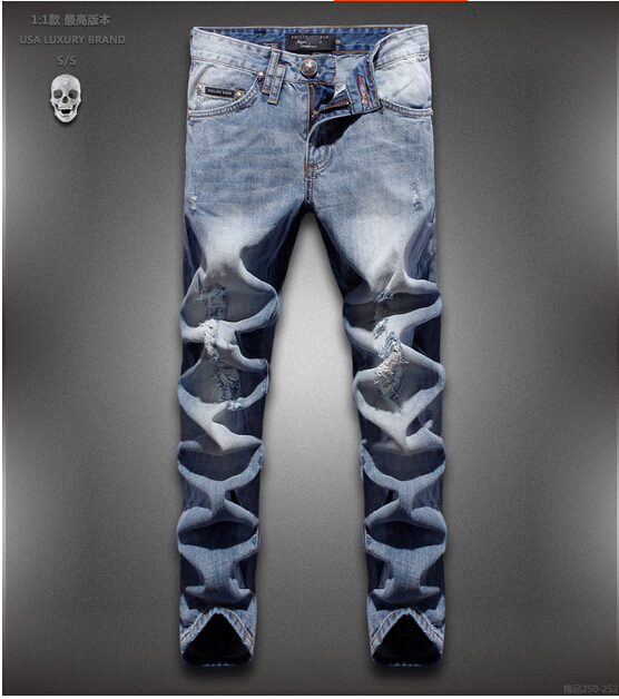 Free Shipping 2015 men s fashion jeans men summer clothes new fashion brand Men s pants