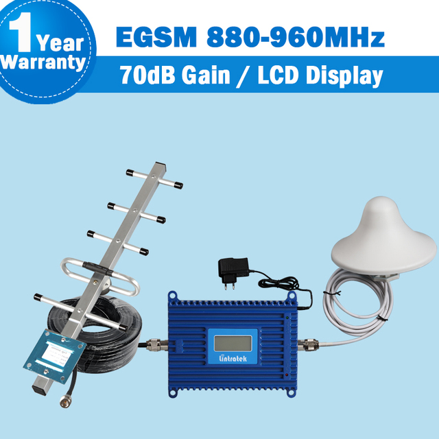 70dB Gain 2G EGSM 880-960MHz Signal Repeater LCD Display GSM 900Mhz Mobile Phone Amplifier GSM Cellphone Cellular Booster Set