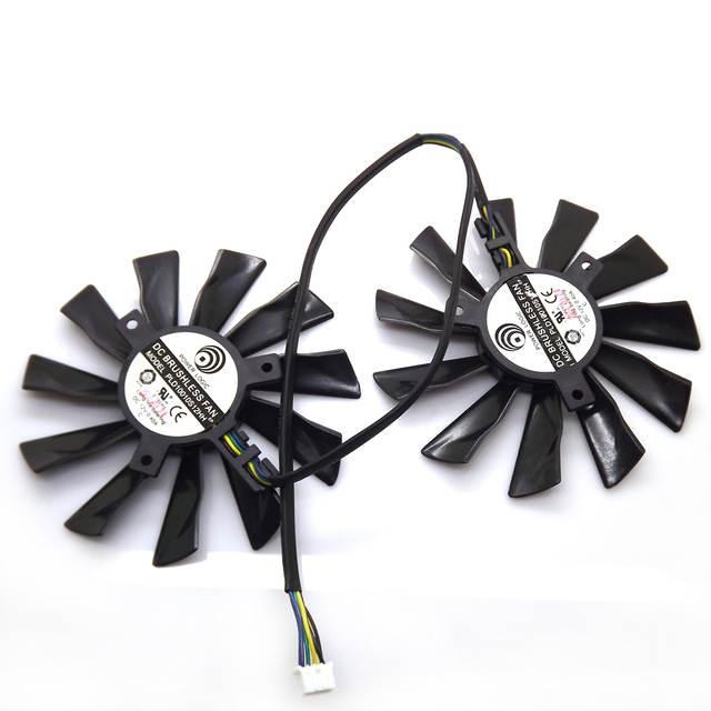 2pcs/lot PLD10010S12HH DC12V 0 40A 94mm 4Pin VGA Fan For MSI R7-260X  R9-290X R9-280X R9-270X Graphics Card Fan