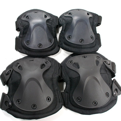 Free Shipping Outdoor Sport Knee elbow pads Tactical Airsoft Knee Elbow Pads Black Green Army Knee