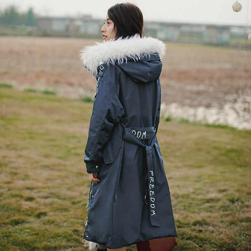 INMAN новые продукты для женщин с капюшоном женские пуховики длинное пальто
