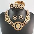 El envío Libre de La Vendimia Esmaltado Lion Head Collar Pulsera Conjunto Del Anillo Del Pendiente de La Manera de La Joyería, de las mujeres de La Joyería Del Partido