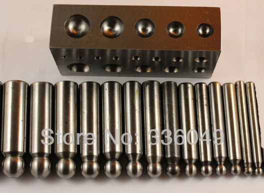 ФОТО dapping punches and block set (14pcs),Flat Dapping Block For Jewelry, Jewelry tool ,Jewelry Making Supplies,Engraving tool