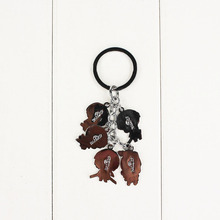2 Styles Attack On Titan Character Keychains