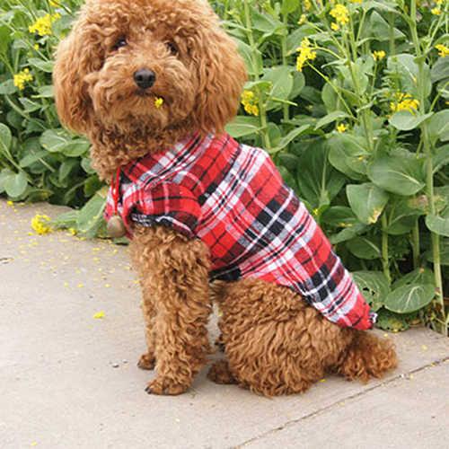 פופ פריט! חמוד חיות מחמד כלב גור משובץ חולצה מעיל בגדי חולצה למעלה הלבשה גודל XS S M L C1HW