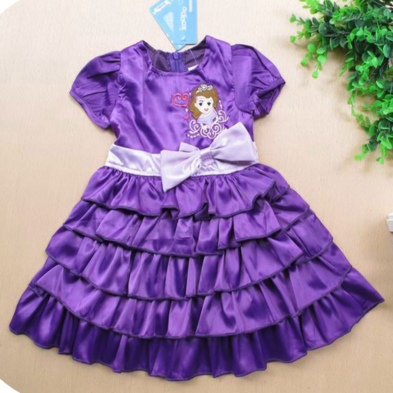 Baby Girl Princess Sofia Dress for Party Kids Clothes Girls Dresses Summer 2017 For Party And Wedding Vestido Children Clothing new girls flowers dress for wedding and party summer baby clothes princess kids dresses for girl children costume 3 10t w1625133