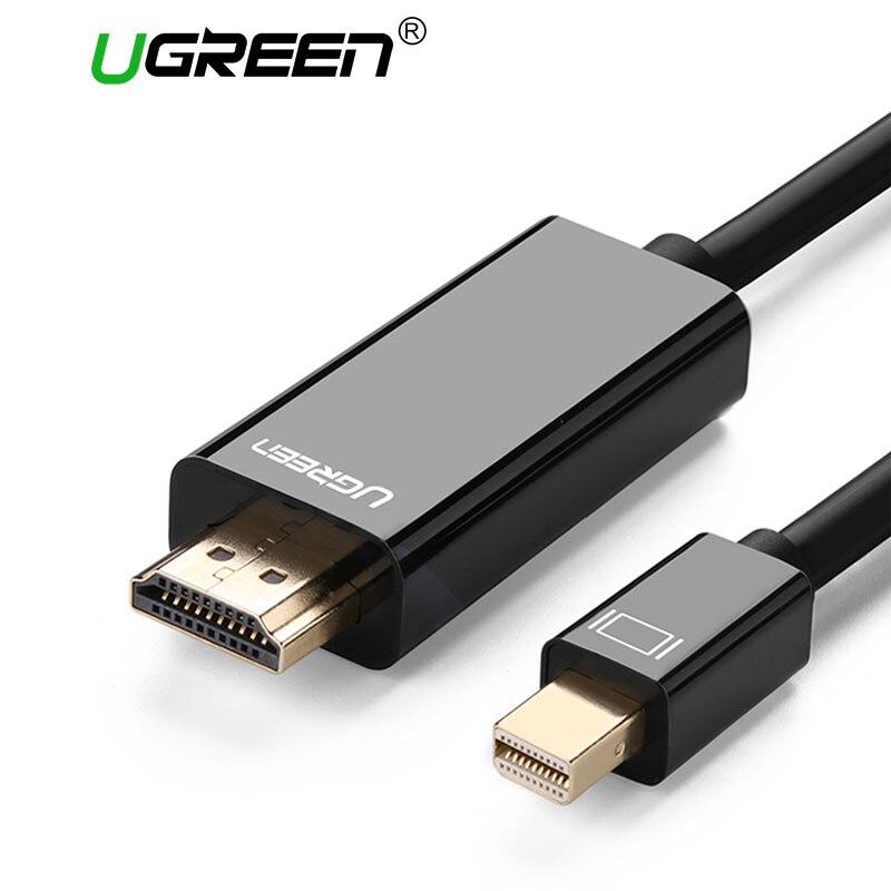 Ugreen Thunderbolt 1/2 Mini Displayport DP a HDMI Cavo Adattatore Mini DP ALL'ADATTATORE di HDMI Cavo del Convertitore al Cavo Dell'adattatore di HDMI 4 K * 2 K 3D