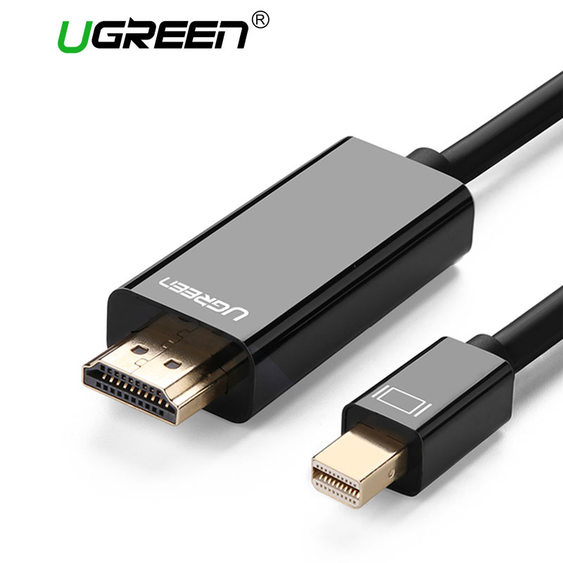 Ugreen Thunderbolt 1/2 Mini Displayport DP to HDMI Cable Adapter Mini DP to HDMI Converter Cable to HDMI Cable Adapter 4K*2K 3D