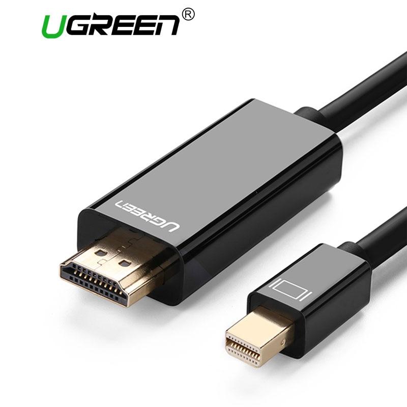 Ugreen Thunderbolt 1/2 Mini Displayport DP to HDMI Cable Adapter Mini DP to HDMI Converter Cable to HDMI Cable Adapter 4K*2K 3D