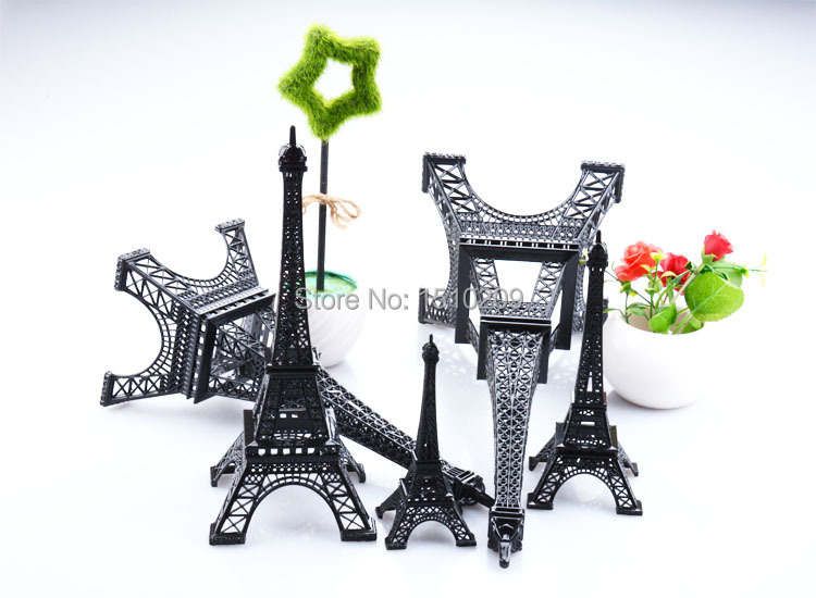 13CM Black Home Decor Eiffel Tower Model Art Crafts Creative Gifts Travel Souvenirs For Kids Party Favor