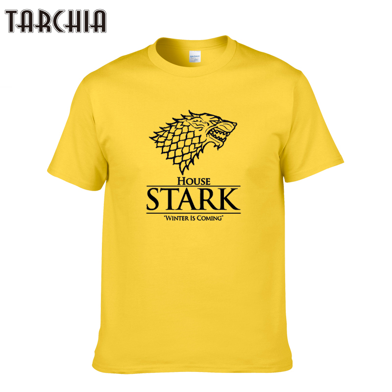 TARCHIA 2019 house stark winter is coming t-shirt cotton tops tees men short sleeve boy casual homme tshirt t shirt plus fashion