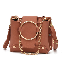 Brand Design Korean Style Chain Bags For Women 2019 Casual Handbag Bucket Shoulder Bag Pu Leather Messenger Crossbody Bags Women female handbag shoulder bag letter crossbody bucket pu messenger bags laser holiday design
