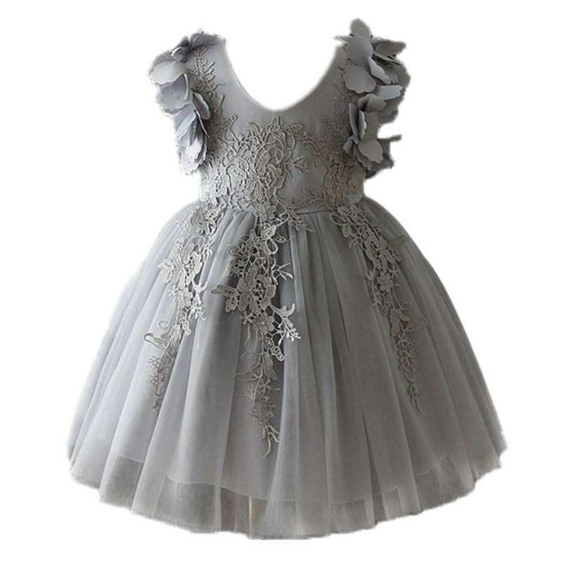 все цены на Toddler Girls Dress Elegant Girls Princess Dress For Girls Infant Party Dress Children Costume For Kids Girl Wedding Dresses