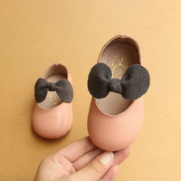 Baby First Walkers Genuine Leather Baby Shoes Cute Butterfly Knot Princess Shoes