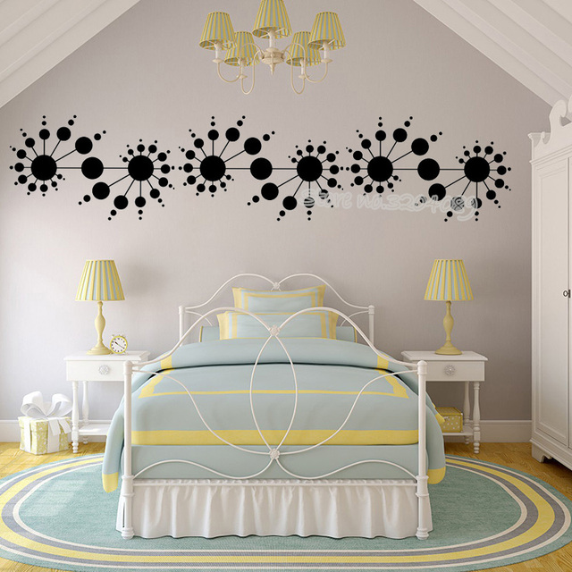 Spiral Dots Wall Decal Crazy Made Out Of Polka Stickers Home Decor Living Room Bedroom Window Headboard Mural EA472