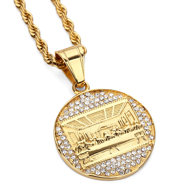 Fashion charms mens stainless steel necklaces the last supper fashion charms mens stainless steel necklaces the last supper pendant hip hop chains punk rock micro aloadofball Images