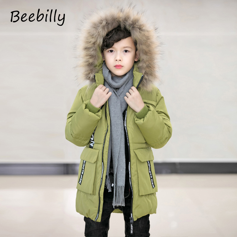 2017 Boys Winter Jackets Coats Fashion Hooded Warm Winter Jacket For Boys Kids Cotton Outerwears Coats for-10degree Boys Parkas casual 2016 winter jacket for boys warm jackets coats outerwears thick hooded down cotton jackets for children boy winter parkas