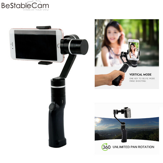 BeStableCam Horizon HF3 Smartphone Gimbal Stabilizer Compatible with Gopro Camera Support Bluetooth,360 degree horizontal