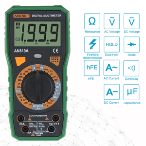 Image 4 - Aneng AN819A Digitale Multimeter Ac/Dc Spanning Ampèremeter Capaciteit Weerstand Triode Tester Current Meter + Crocodile Clips